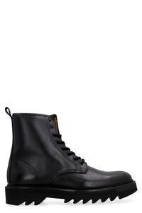 Leather combat boots, Lace-up boots AMI man