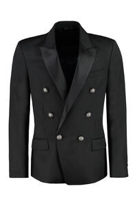 Double-breasted wool jacket, Double breasted blazers Balmain man