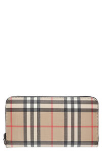 Checkered fabric wallet, Wallets Burberry woman