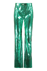 Snake print faux leather trousers, Leather pants MSGM woman