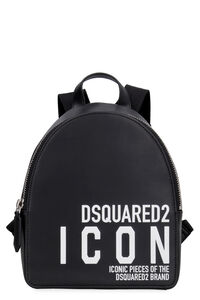 Printed leather backpack, Backpack Dsquared2 man