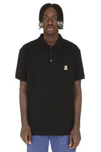 Short-sleeved cotton polo shirt, Short sleeve polo shirts Moschino Couture man