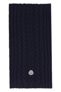 Tricot knit scarf, Scarves Moncler woman