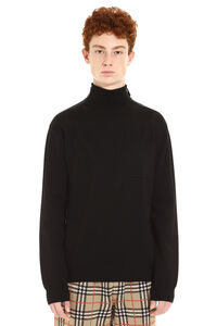 Long sleeve wool turtleneck, Turtleneck Burberry man