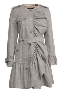 Prince-of-Wales checked coat, Knee Lenght Coats Boutique Moschino woman