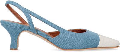 Denim slingback