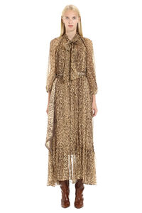 Espionage long silk dress with ruffle, Printed dresses Zimmermann woman
