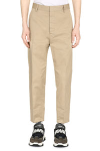 Cotton cropped trousers, Casual trousers Dsquared2 man