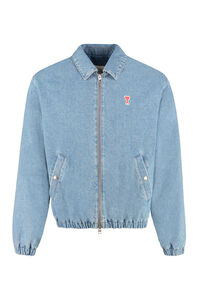 Denim bomber jacket, Denim jackets AMI PARIS man