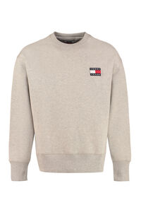Logo detail cotton sweatshirt, Sweatshirts Tommy Jeans man