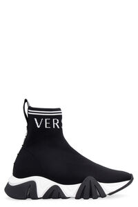 Knitted sock-style sneakers, High Top sneakers Versace woman