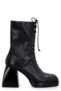Bulla Lace Up leather lace-up boots, Heeled Boots Nodaleto woman