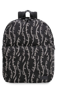 Nylon backpack with leather details, Backpack Salvatore Ferragamo man