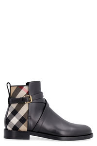 Leather ankle boots, Ankle Boots Burberry woman