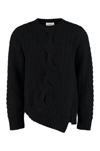 Crew-neck wool sweater, Crew necks sweaters Alexander McQueen man