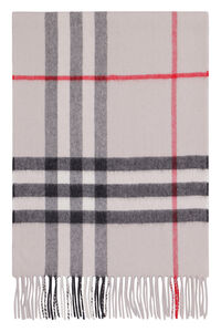 Checked cashmere scarf, Scarf Burberry woman