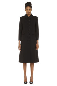 Single-breasted long coat, Knee Lenght Coats Givenchy woman