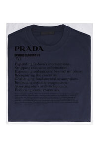 Three pack cotton t-shirt, Short sleeve t-shirts Prada man