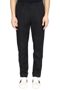 Kirio relaxed-fit cotton trousers, Casual trousers BOSS man