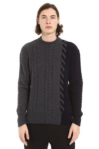 Wool and cashmere pullover, Crew necks sweaters Maison Kitsuné man