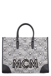 All over logo canvas tote, Tote bags MCM woman