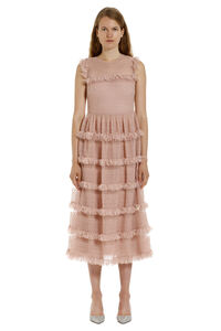 Ruffled crêpe dress, Maxi dresses Red Valentino woman
