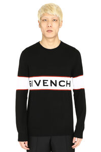 Logo intarsia wool sweater, Crew necks sweaters Givenchy man
