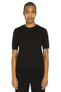 Knitted top, Crew neck sweaters Fendi woman