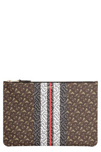 Coated canvas clutch, Pouches Burberry woman