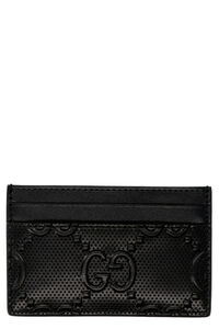 GG motif leather card holder, Wallets Gucci man