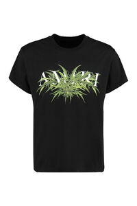 Cannabis Diagram printed cotton T-shirt, Short sleeve t-shirts AMIRI man