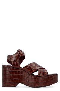 Jane leather wedge sandals, Wedges STAUD woman