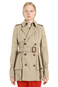 Short cotton trench coat, Raincoats And Windbreaker Alexander McQueen woman