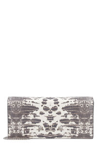 Printed leather wallet on chain, Wallets Alexander McQueen woman