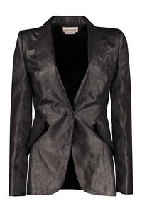 Linen single-breasted blazer, Blazers Alexander McQueen woman