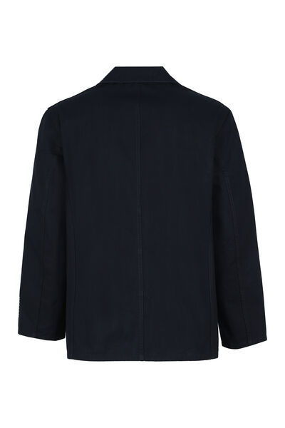 Single-breasted cotton blazer