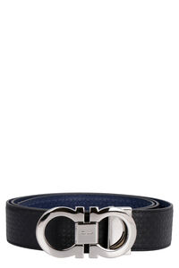 Gancini reversible leather belt, Belts Salvatore Ferragamo man