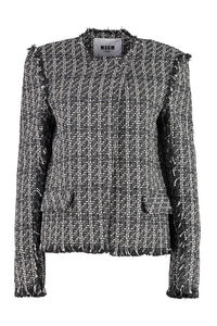 Cotton blend tweed jacket, Casual Jackets MSGM woman