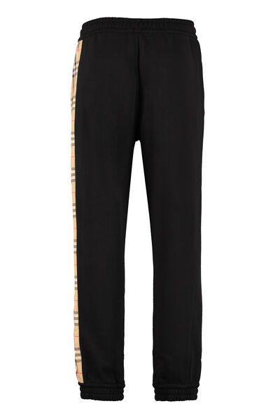 Stretch cotton track-pants