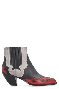 Sunset Flowers pointy-toe cowboy boots, Ankle Boots Golden Goose woman