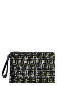 Printed nylon clutch, Poches Fendi man