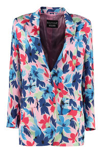 Printed single-breasted blazer, Blazers Boutique Moschino woman