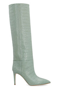 Croco-print leather boots, Heeled Boots Paris Texas woman