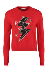 Intarsia crew-neck sweater, Crew neck sweaters Red Valentino woman