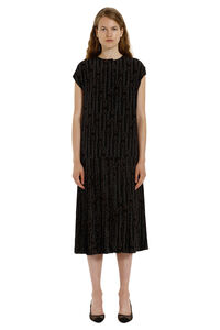Plated skirt dress, Printed dresses Salvatore Ferragamo woman