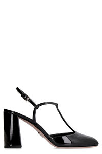 Patent leather T-strap pumps, High Heels Prada woman