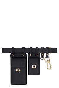 Multi-equipped leather belt, Belts Fendi woman