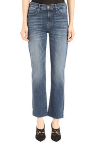 The Rascal frayed slim fit jeans, Cropped Jeans Mother woman