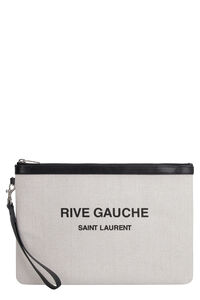 Canvas clutch, Poches Saint Laurent man