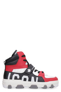 Icon Basket leather high-top sneakers, High Top Sneakers Dsquared2 man